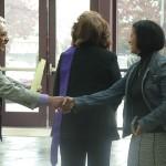 Receiving a Warm Greeting - Antioch Progressive Church